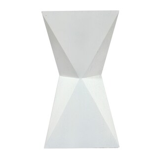 Cityscape White Faux Leather 12-inch x 12-inch x 22-inch Accent Table