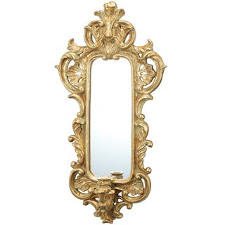 Marcelle 11-inch x 3-inch x 2-inch Wall Mirror with Candle Holder