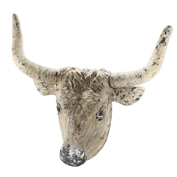 32.5-inch x 18-inch x 29-inch Ox Head Wall Decor