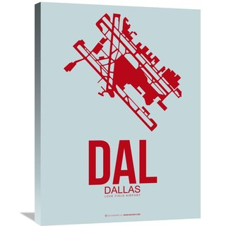 Naxart Studio 'DAL Dallas Poster 3' Stretched Canvas Wall Art