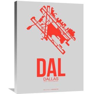 Naxart Studio 'DAL Dallas Poster 1' Stretched Canvas Wall Art