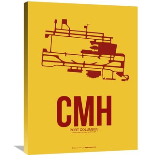 Naxart Studio 'CMH Port Columbus Poster 3' Stretched Canvas Wall Art