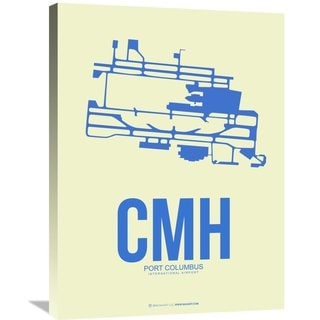 Naxart Studio 'CMH Port Columbus Poster 2' Stretched Canvas Wall Art
