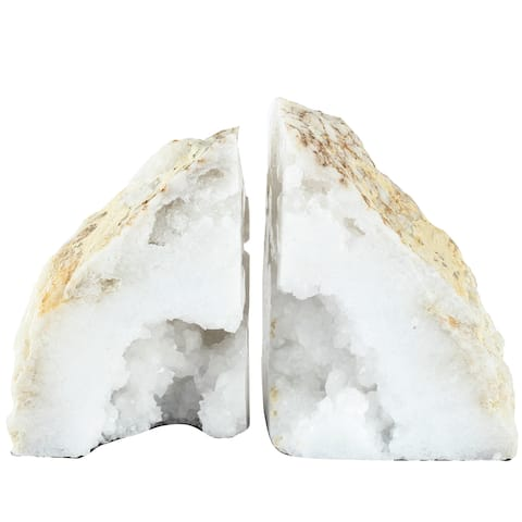 A&B Home Natural Geode Bookends (Set of 2)