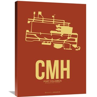 Naxart Studio 'CMH Port Columbus Poster 1' Stretched Canvas Wall Art