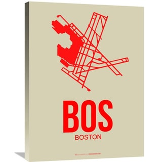 Naxart Studio 'BOS Boston Poster 1' Stretched Canvas Wall Art
