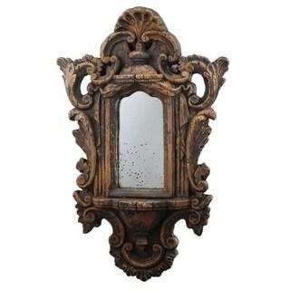 Albertine Vintage-style Bronze Rectangular Wall Mirror