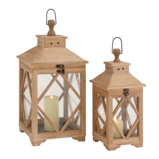 Beautiful Styled Wood Glass Lantern