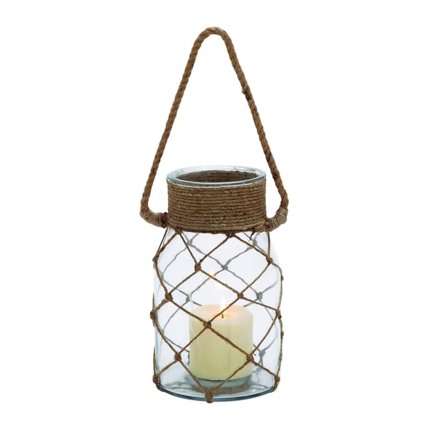 Smart Styled Opaque Glass Rope Candle Lantern