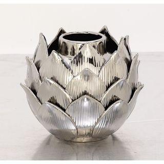 Charismatic Ceramic Silver Vase