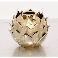 Palm Canyon Toro Elegant Ceramic Gold Vase