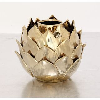 Palm Canyon Toro Elegant Ceramic Gold Vase