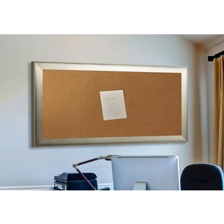 American Made Rayne Brushed Silver Corkboard