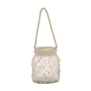 Classic Glass Rope Candle Lantern