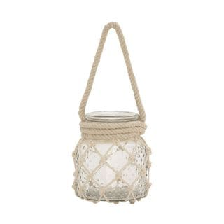 Decorative Glass Rope Candle Lantern