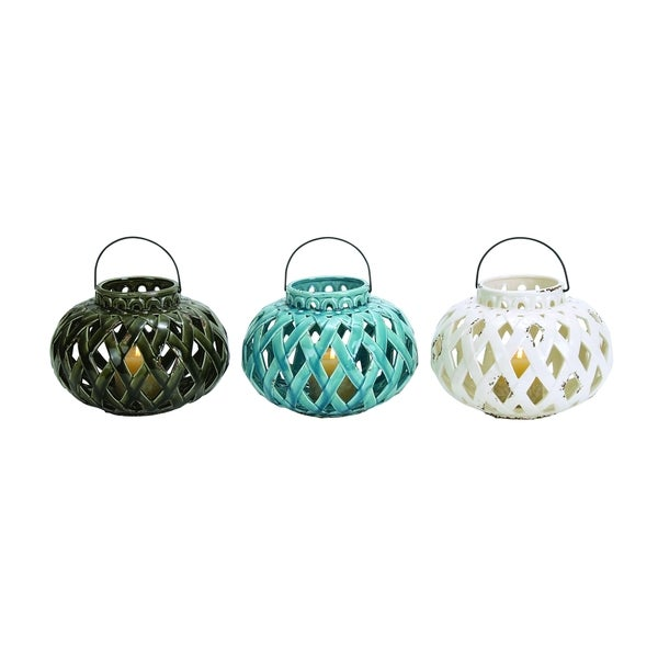 Attractive Ceramic Lantern 3 Assorted
