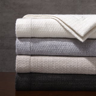 Madison Park Signature Luxury Wool Oversized Throw in Gift Box