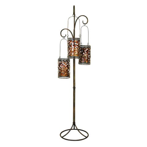 The Curated Nomad Lotta Metal Floor Candle Lantern