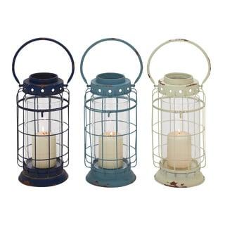 Mesmerizing Metal Glass Lantern 3 Assorted