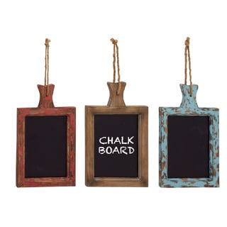 Unique Styled Hanging Wood Chalkboard (Set Of 3)