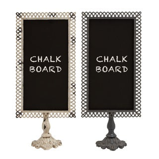 Alluring Styled Metal Blackboard 2 Assorted