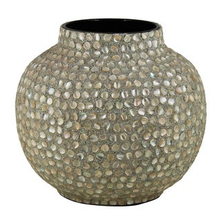Appealing Mother Of Pearl Encrusted Vase