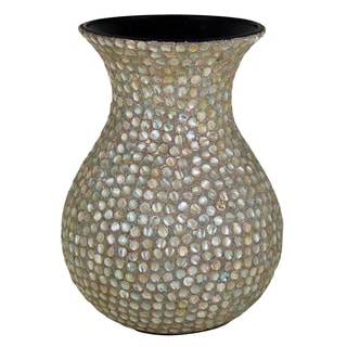Innovatively Designed Mother Of Pearl Encrusted Vase By Entrada