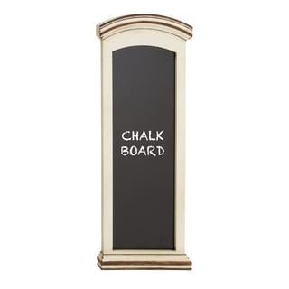 Customary Styled White Finish Wood Blue Blackboard