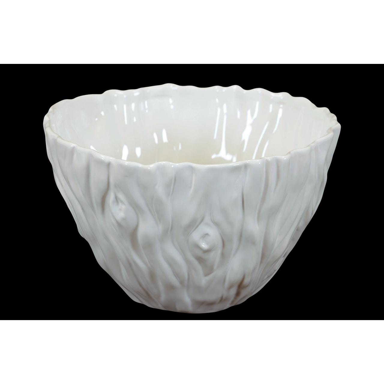 Elegant Beautiful Ceramic Bowl In White Large Overstock 11839326