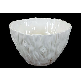 Elegant & Beautiful Ceramic Bowl In White (Large)