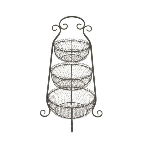 Attractive Metal 3 Tier Rack Black