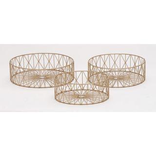 Elite Metal Gold Baskets (Set Of 3)