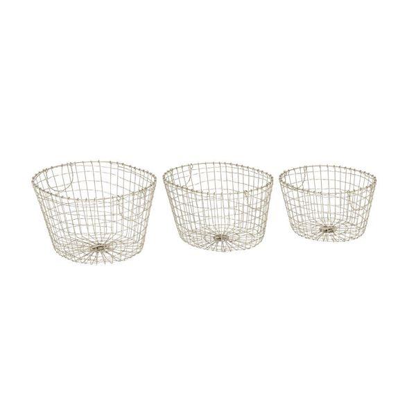 Enduring Metal Wire Basket (Set Of 3)