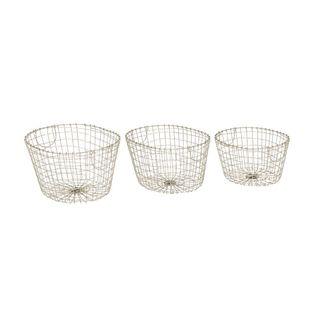 Enduring Metal Wire Basket (Set Of 3) - Thumbnail 0