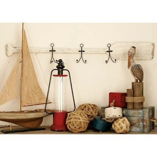 Nautical Wood Metal Wall Hook