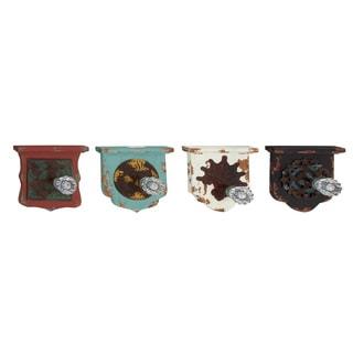 Striking Wood Metal Acrylic Wall Hook (Set Of 4)