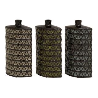Stunning And Unique (Set Of 3) Assorted Ceramic Vases