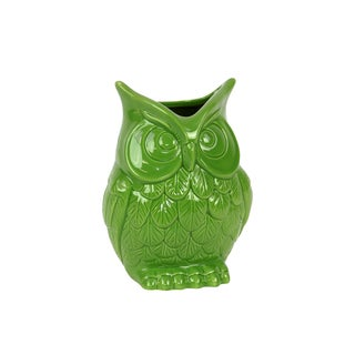 Beautiful & Spectacular Ceramic Owl Vase Small
