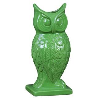 Spectacular & Magnificent Ceramic Owl Figurine Vase Large