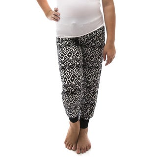 Soho Kids Girls Aztec/ Geometric Print Casual Jogger Pants