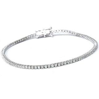 Eco Friendly 18k White Gold 1ct TDW Lab-Grown Diamond Tennis Bracelet (G-H, VS2-SI1)