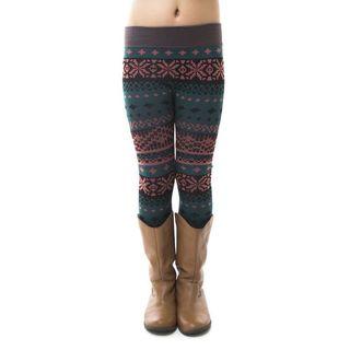 Soho Kids Winter Pattern Fleece Leggings