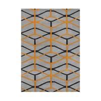 Look To The Alliyah Fashion Forward Design Geometric Cubes Wool Rug (5' x 8') - 5' x 8'