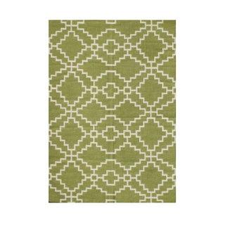 Alliyah Symbol Of Protection Modern Geometric Mesopotamia Handmade Wool Rug (8' x 10')