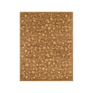 Alliyah Arabesque ElegantFloral Earthy PaletteTransitional Rug, 8x10