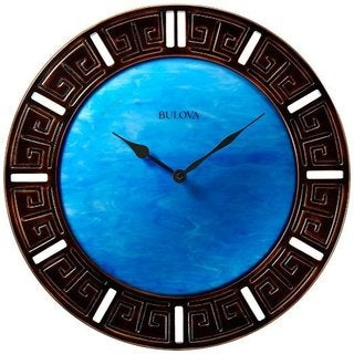 Bulova C4371 Oceanic 18-inch Dark Cherry Wood Wall Clock