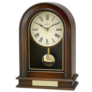 Bulova B7467 Hardwick Wood/Wood Veneer Walnut Analog Clock