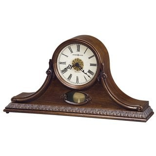 Bulova B1513 Hyde Park Tambour Quartz Harmonic Solid Wood Mantel Clock