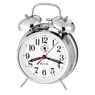 Bulova B1827 Bellman II Chrome Finish Metal Bell Analog Alarm Clock