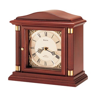 Bulova B1843 Bramley II Quartz and Solid Wood Chiming Analog Mantel Clock